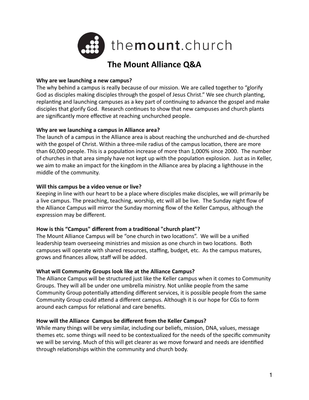 Alliance Q&A,pg 1 - CLICK IMAGE TO ENLARGE
