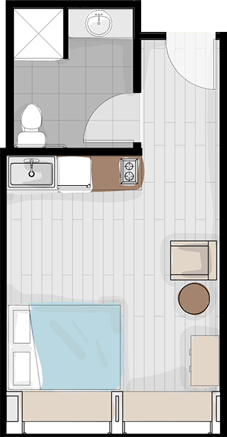 Layout #2 - larger unit, ADA compliant