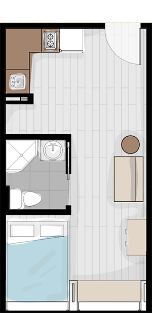 Layout #1- standard unit size and configuration