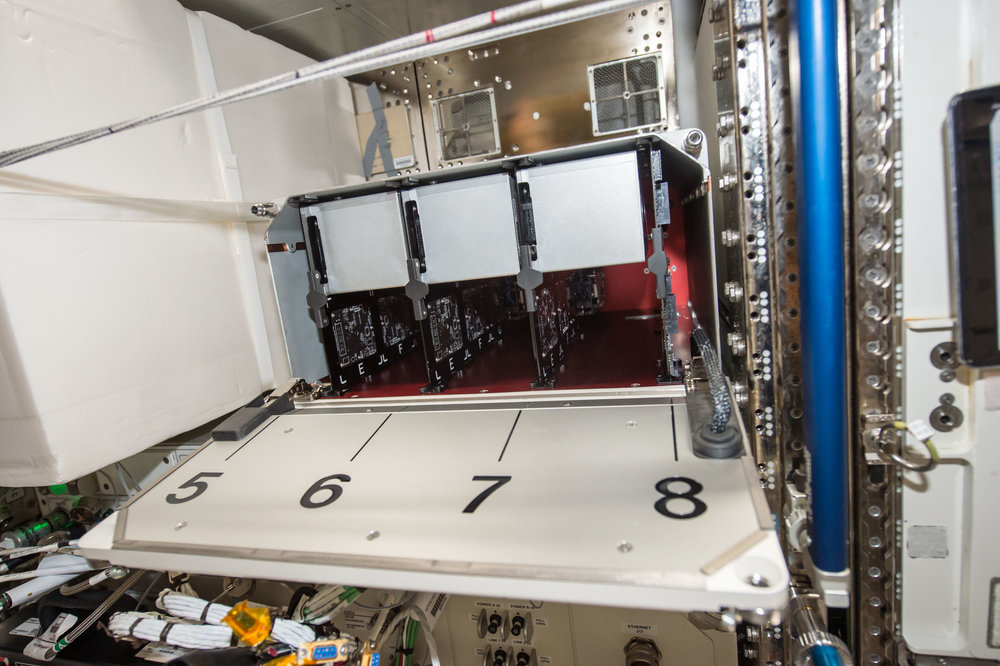TangoLab-2 after installation showing multiple CubeLab modules (August 2017).