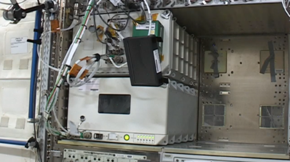 TangoLab-1 position within the Japanese Experiment Module on the International Space Station (July 2017).