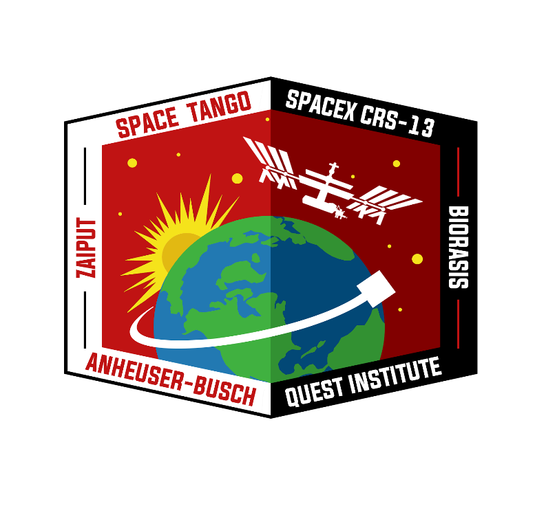 The official Space Tango CRS-13 mission patch.