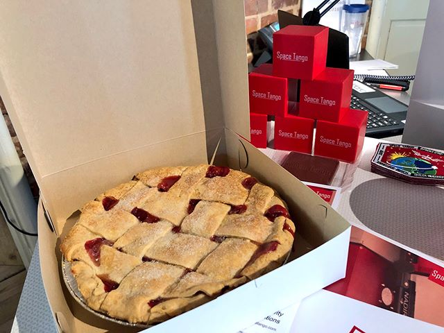 Thank you @iss and Lexington's own Missy's Pies for helping us celebrate #PiDay !
