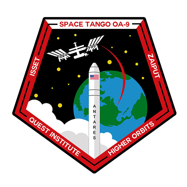 The official Space Tango OA-9 mission patch.