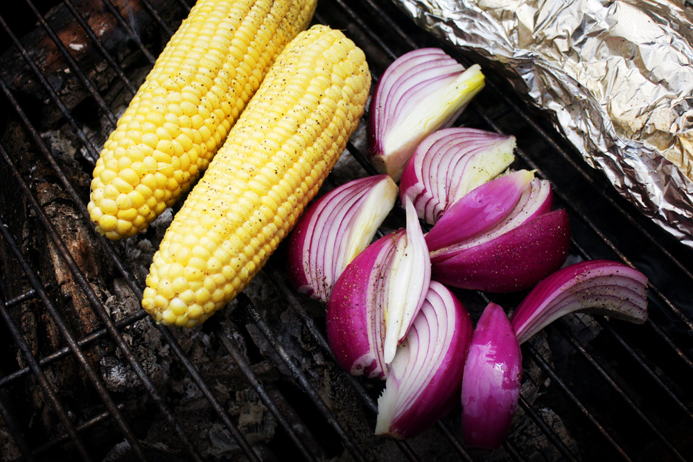 On the hot side of your grill, sear your vegetables for about 5 minutes on each side.