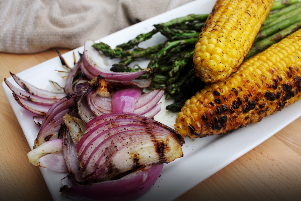 Take the veggies off the grill and let them cool to room temperature, so they'll be easier to handle.