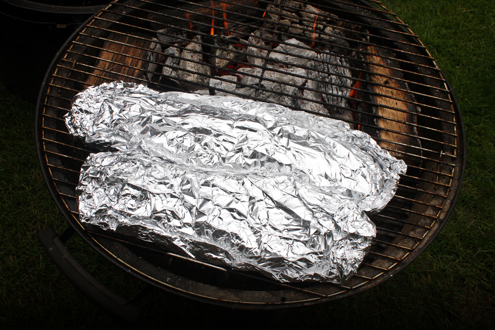 Package the ribs separately into foil pouches. Leave these on the cool zone on the grill for at least 3 hours. This will slow cook them which makes them tender.
