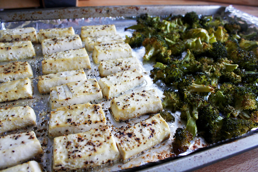 Tofu and broccoli are ready!