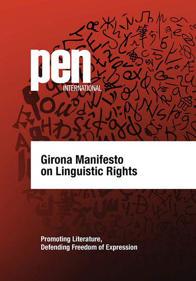 Developed by the Translation and Linguistic Rights Committee, the Girona Manifesto is a ten point document designed to be translatd and disseminated widely as a tool to depend linguistic diversity around the world.