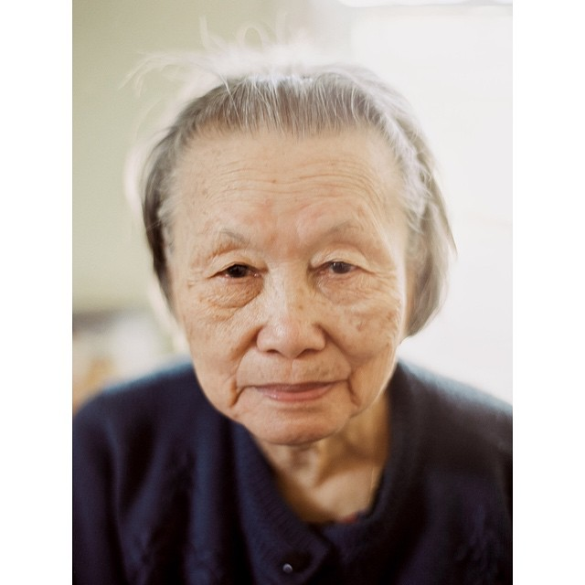 My beautiful 91 year old grandma. The original hipster with her trendy hair. #contax645 #fuji400h #filmisnotdead