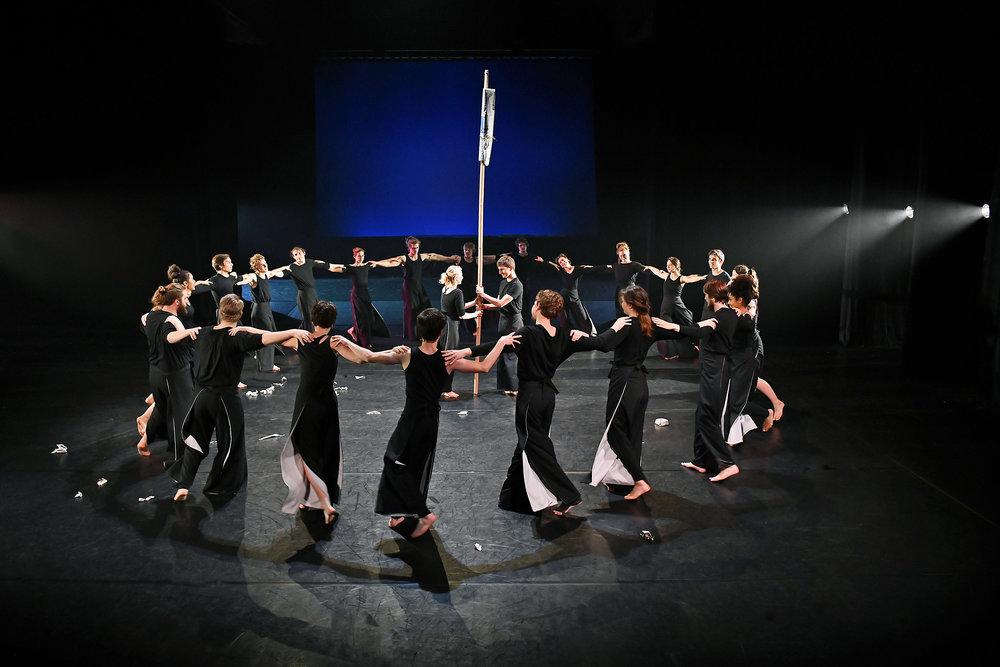 Szenenfoto aus der Performance (Foto: Volker Beushausen)