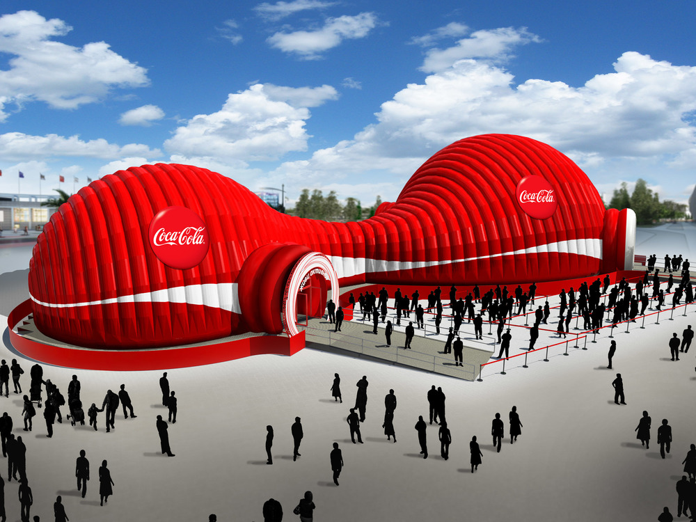 HEART event design coca cola sochi 2014