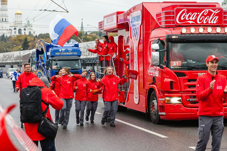 SOCHI WINTER OLYMPICS COCA-COLA TORCH RELAY