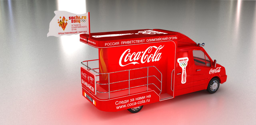 HEART design coca cola winter olympics 2014 truck