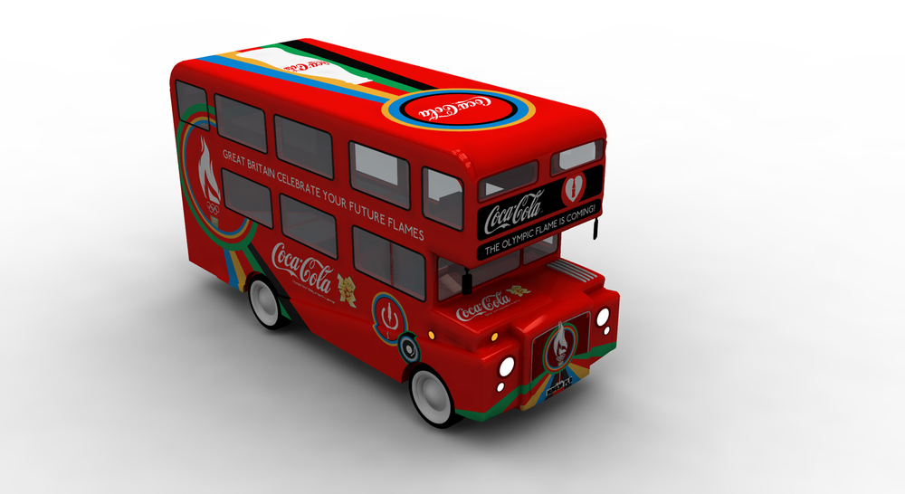 HEART design coca cola olympics 2012 bus