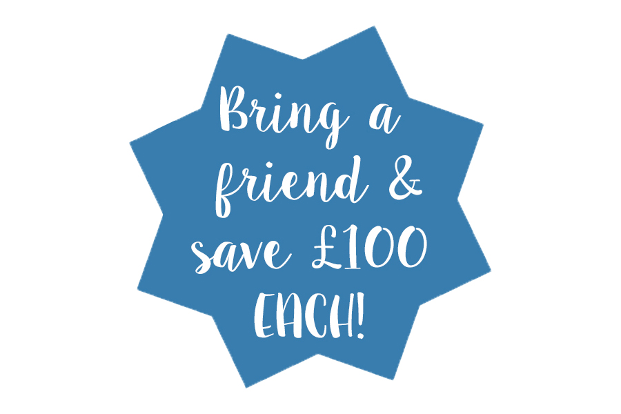 Make the most of the early bird and bring a friend deals offered by some retreats, they're often only for a limited time but can leave some extra pennies in your pocket.