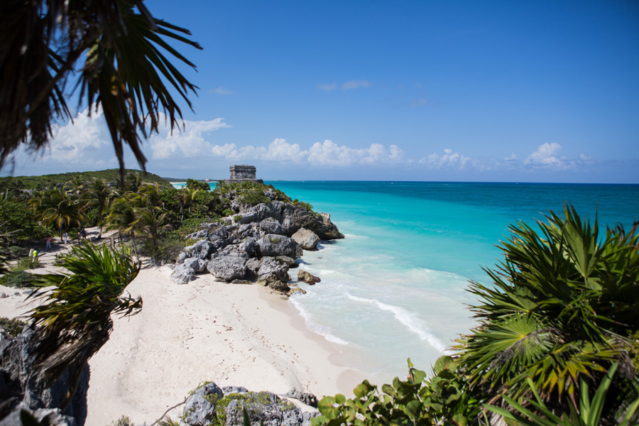 The Mayan Ruins at Tulum - a bicycle ride or walk from Amansala