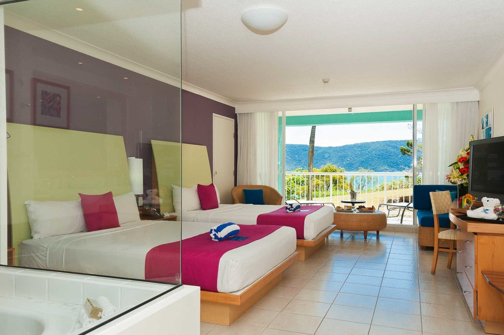 One of the types of suites available at Daydream Island Resort.
