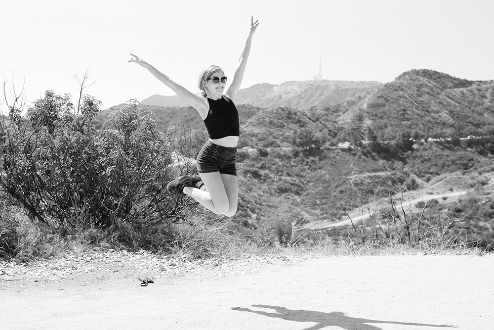 Mary, my hiking partner in the Hollywood Hills.