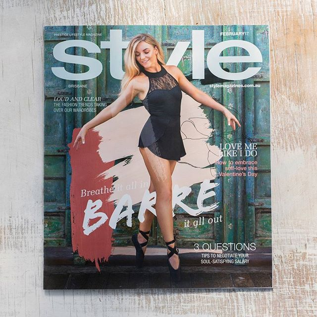 My first cover I have photographed and I am pretty excited it is now out for people to get their hot little hands on ☺️ It was a morning full of creativity, movement and fun with an amazing team @barrebrisbane @stylemagazine @christiesutherl @ginelledalecreative and @ashdaniec looking every so beautiful on the cover ✨