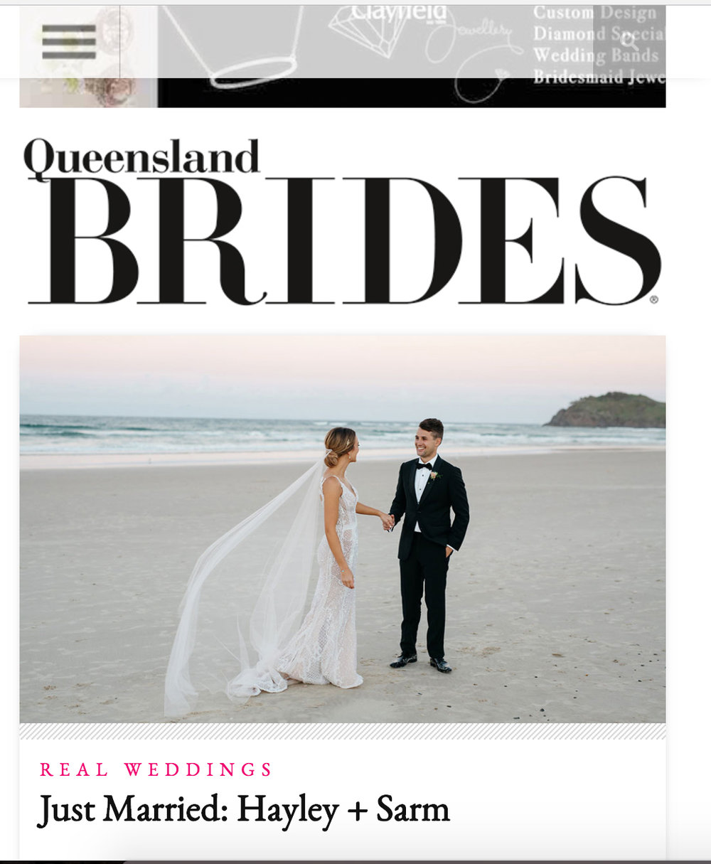Brisbane Wedding Photographer | Moments by Frankie featured in Queensland Brides Magazine
