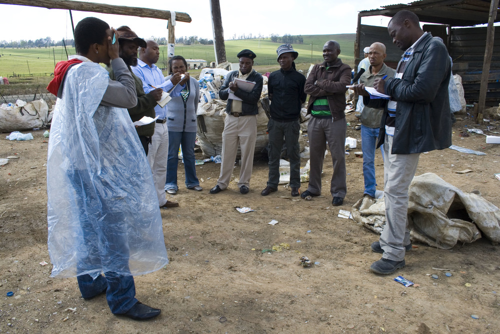 Members of South African waste picker cooperatives.