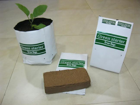Basic Grow kit from SK organic - Includes grow bags, Coco peat and seeds.