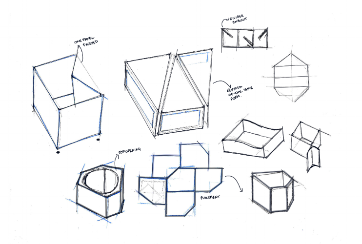 Sketches to explore modular forms.