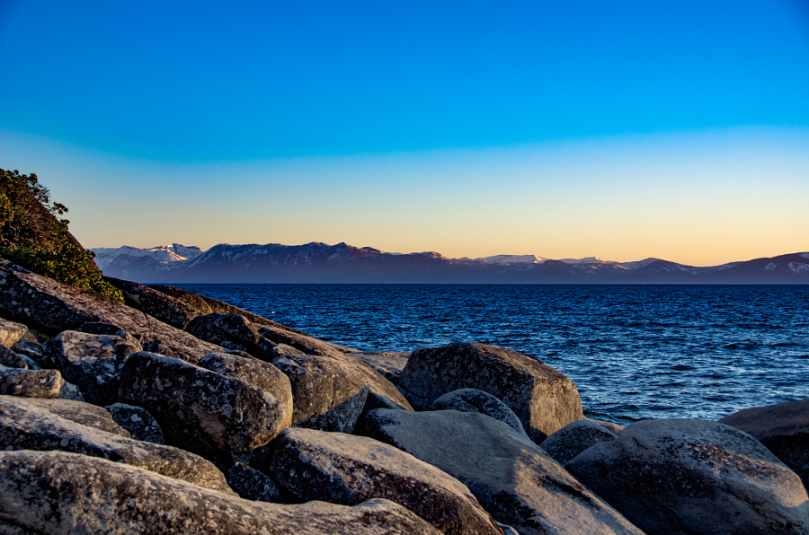 Lake Tahoe & Purple Mountains