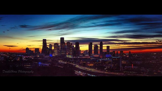 Another gorgeous sunrise as the City of Houston prepares for Super Bowl LI