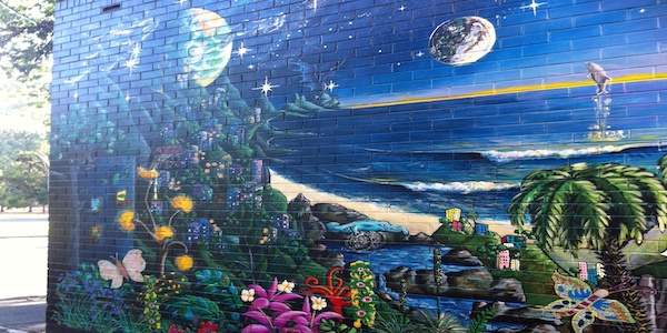 Random Street Art...Near our apartment in Adelaide, South Australia.