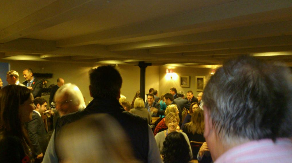 A lovely crowd at The Dragon's Bondholder event #cheeseandwine