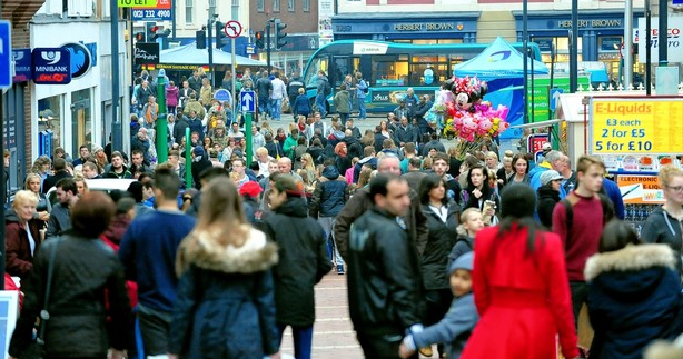 Derby's high street over Black Friday weekend (28th-30th November, 2014).