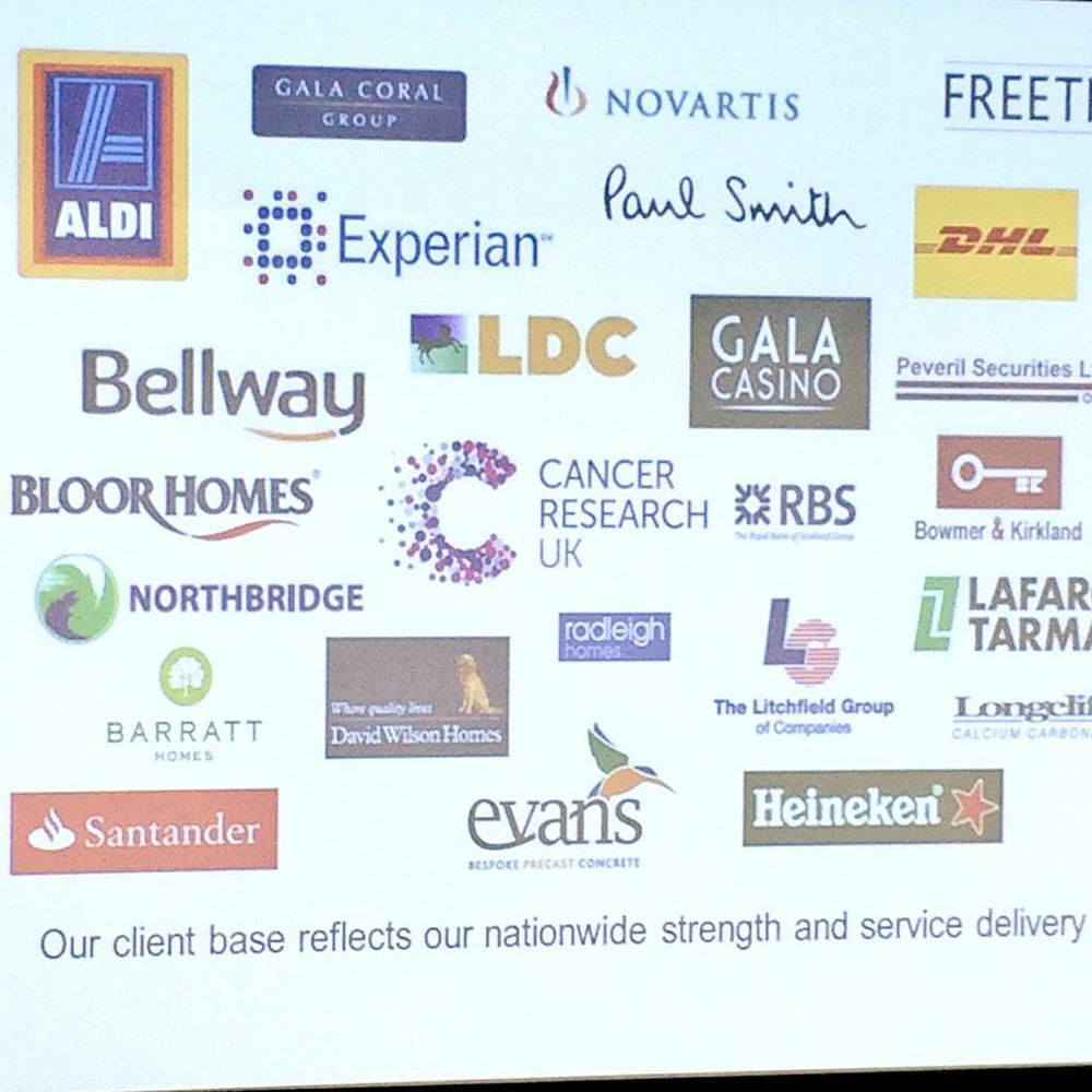 Some of the companies Freeths are working with...
