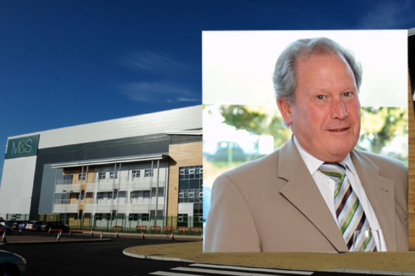 Charles Clowes and the distribution centre in Castle Donington sold to Marks & Spencer to service its online operations.