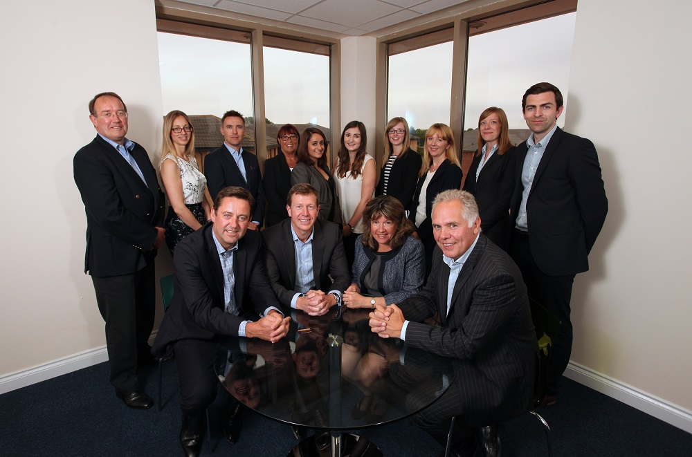 Back (left to right): David Williams, partner, Hélène Maillet-Vioud, partner, Alan Mercer, business development director, Laraine Dixon, legal secretary, Amrit Hunjin, solicitor, Katie Pleasant, Julia Lee, associate, Kate Lewis, finance director, Jane Livingstone, senior associate, Mike Sullivan, partner.  Front (left to right): David Beech, CEO, Andrew Pilkington, managing partner, Fiona Lazenby, partner, Karl Bamford, partner.