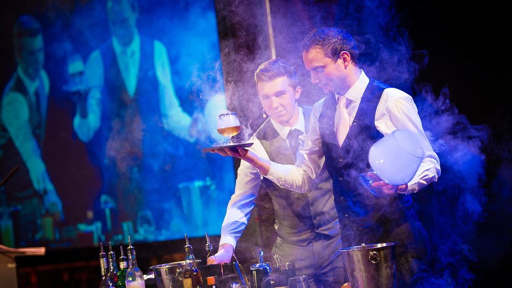 Guests were treated to a live cocktail-making demonstration from Cathedral Quarter Hotel's Bar Sixteen