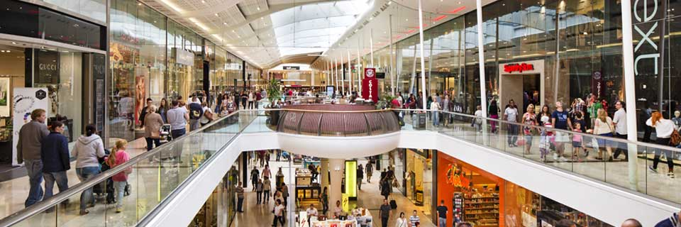 Inside the intu Derby shopping centre