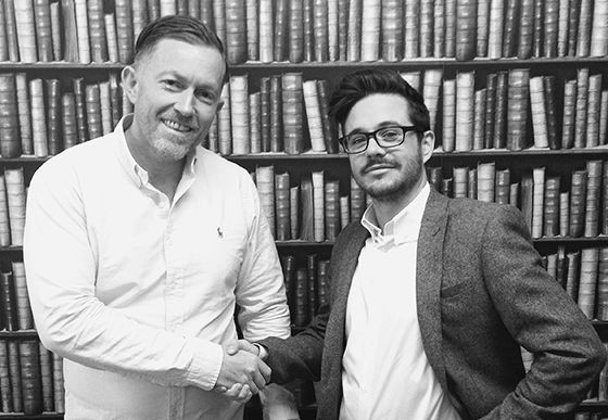 Lee Waterhouse (left) welcomes new creative director Chris Redshaw (right) to the team at WDA Marketing.
