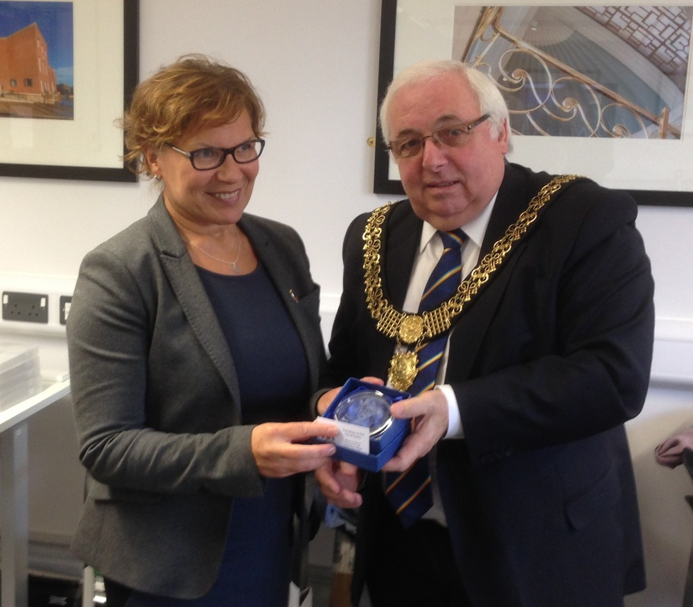 Ms. Seija Kuikka - City of Mikkeli and Mayor of Derby, Cllr Paul Pegg