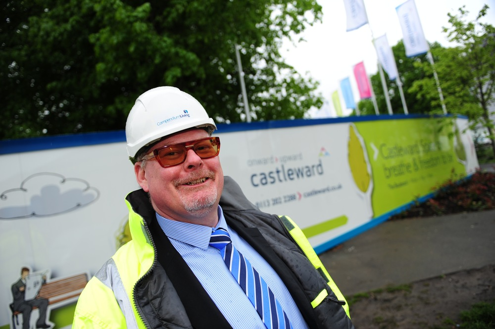 Dave Bullock, Managing Director of Bondholder Compendium Living standing outside the Castleward development