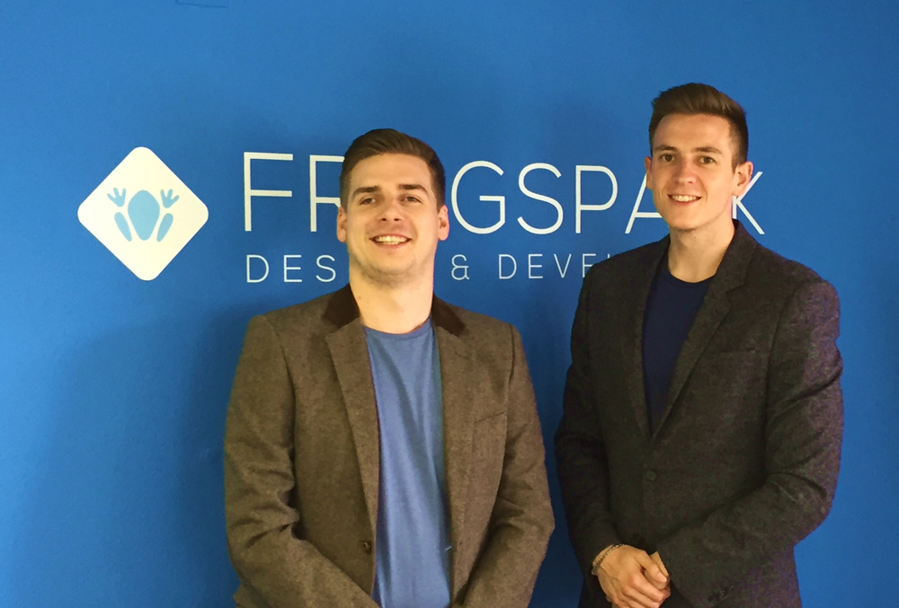Joint Directors of Frogspark, Liam Nelson and Rob Twells.