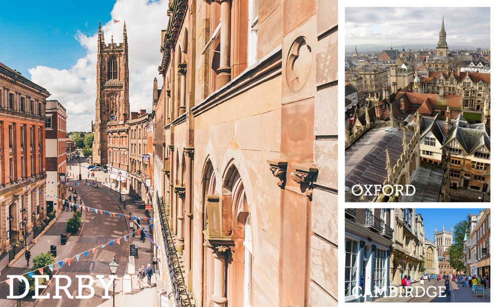 Derby sits between Oxford and Cambridge in UK city economies for GVA growth