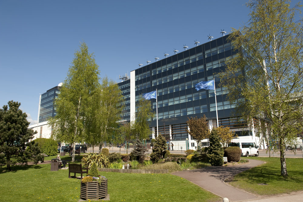 Kedleston Road campus shot on a summers day.