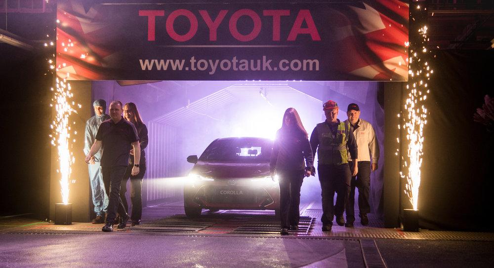 ***Free photo for editorial use***  14/01/19  Toyota Corolla Start of Production Event Burnaston.   All Rights Reserved, F Stop Press Ltd. (0)1335 344240 +44 (0)7765 242650  www.fstoppress.com rod@fstoppress.com