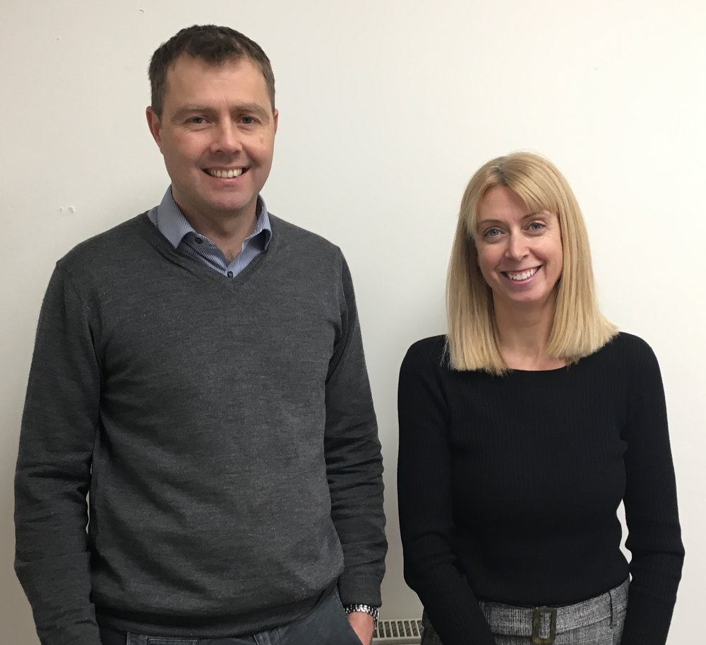 Simon Wildash, Director at NMPR with Kerrie Oxford