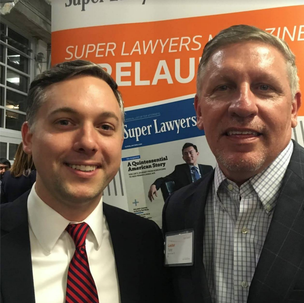 Matthew Wilson & Lester Tate at this year's Super Lawyer event.