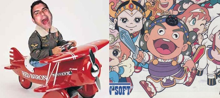 Bikkuriman's Head Rococo and  Laser Time 's Chris Antista: Separated at Birth?
