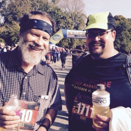 My dad and me at the finish line.