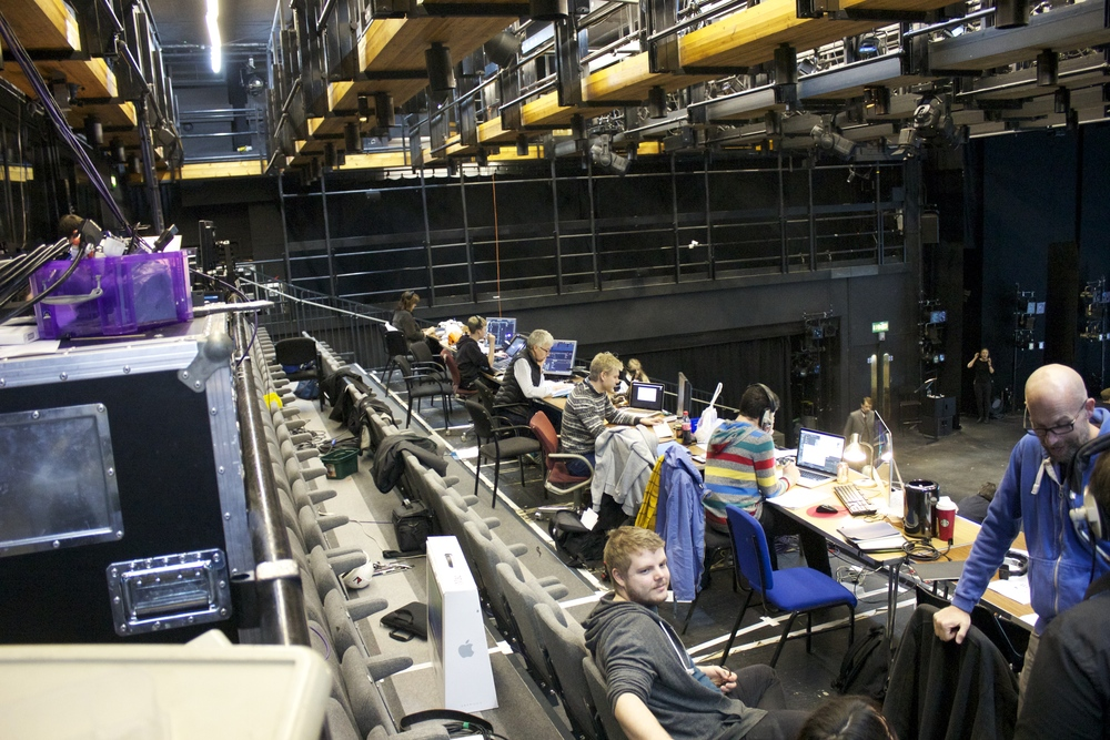 The Technical Team setting the show controls.